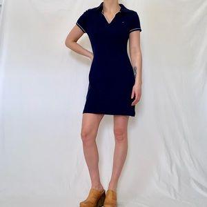 Vintage 90s Tommy Hilfiger Navy Shirt Dress